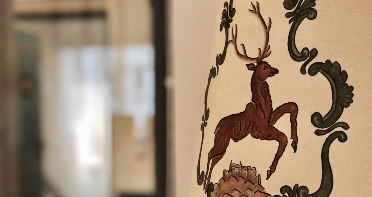Und immer wieder das Hirsch Motiv, Hotel Goldener Hirsch Salzburg