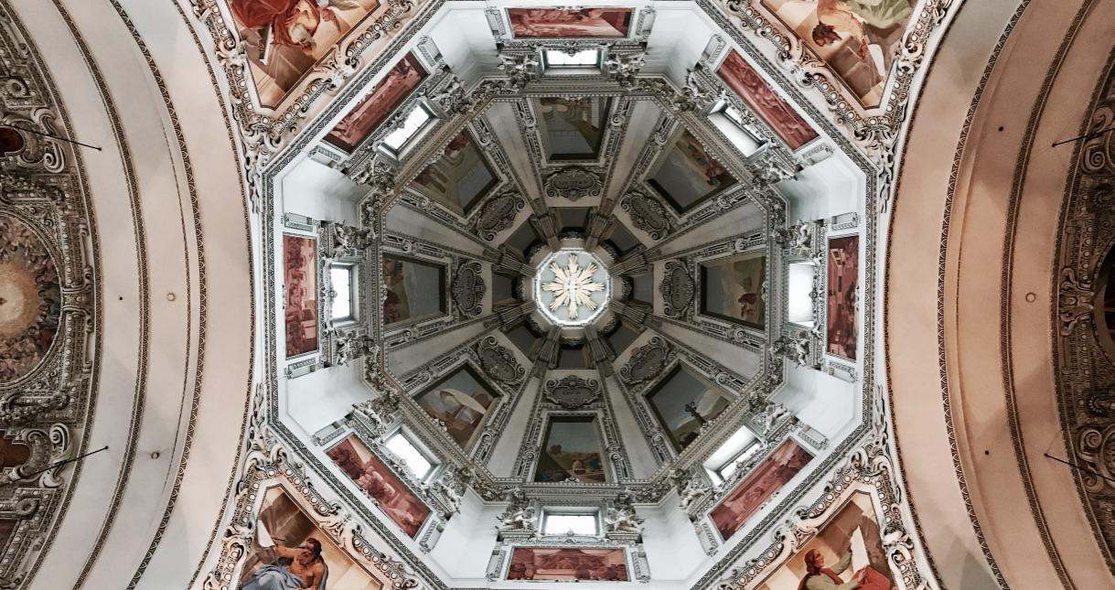 Charakteristisch für Salzburg, die Kirche
