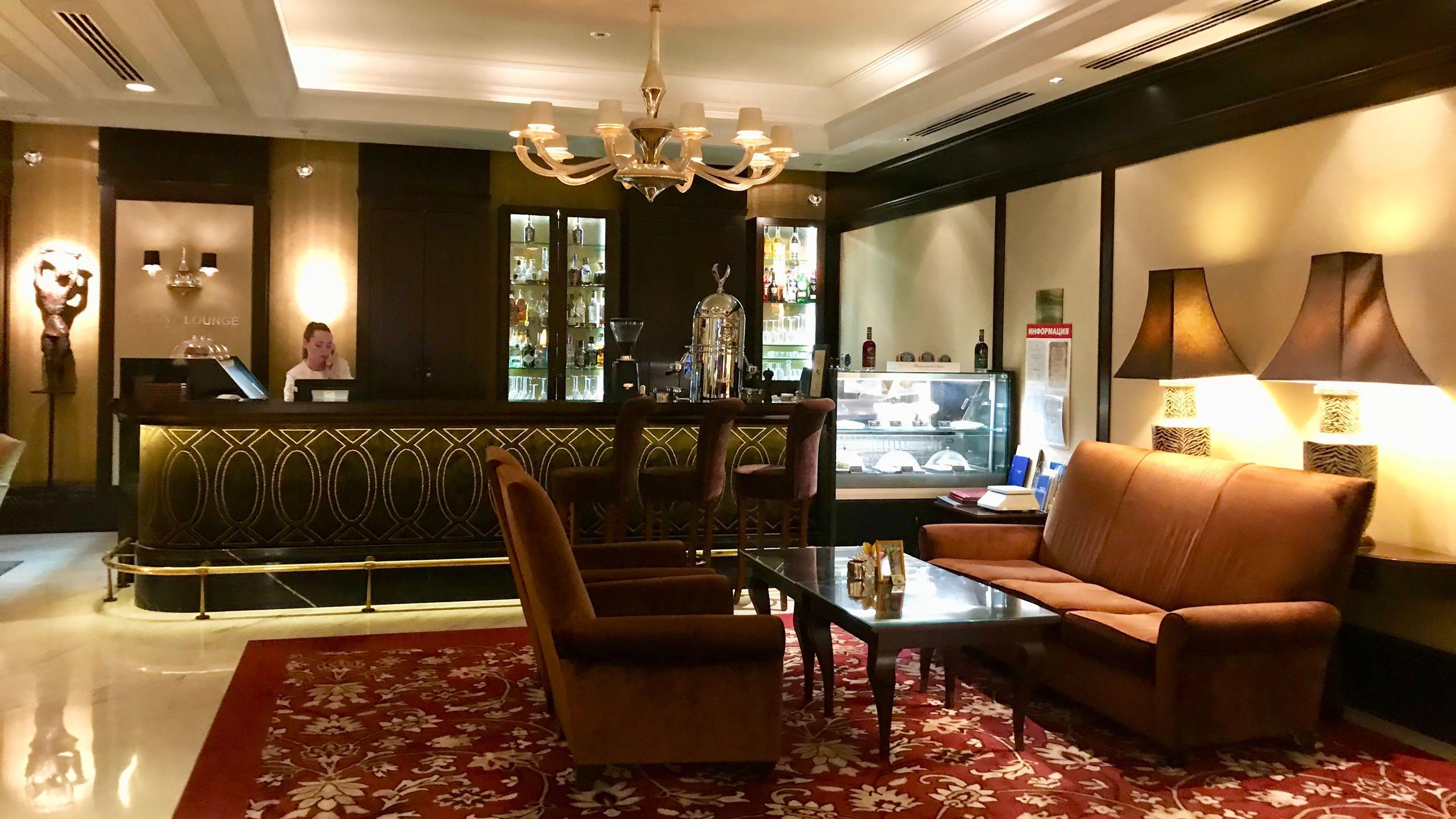 Luxushotel Baltschug Kempinski Moskau Bar und Lobby