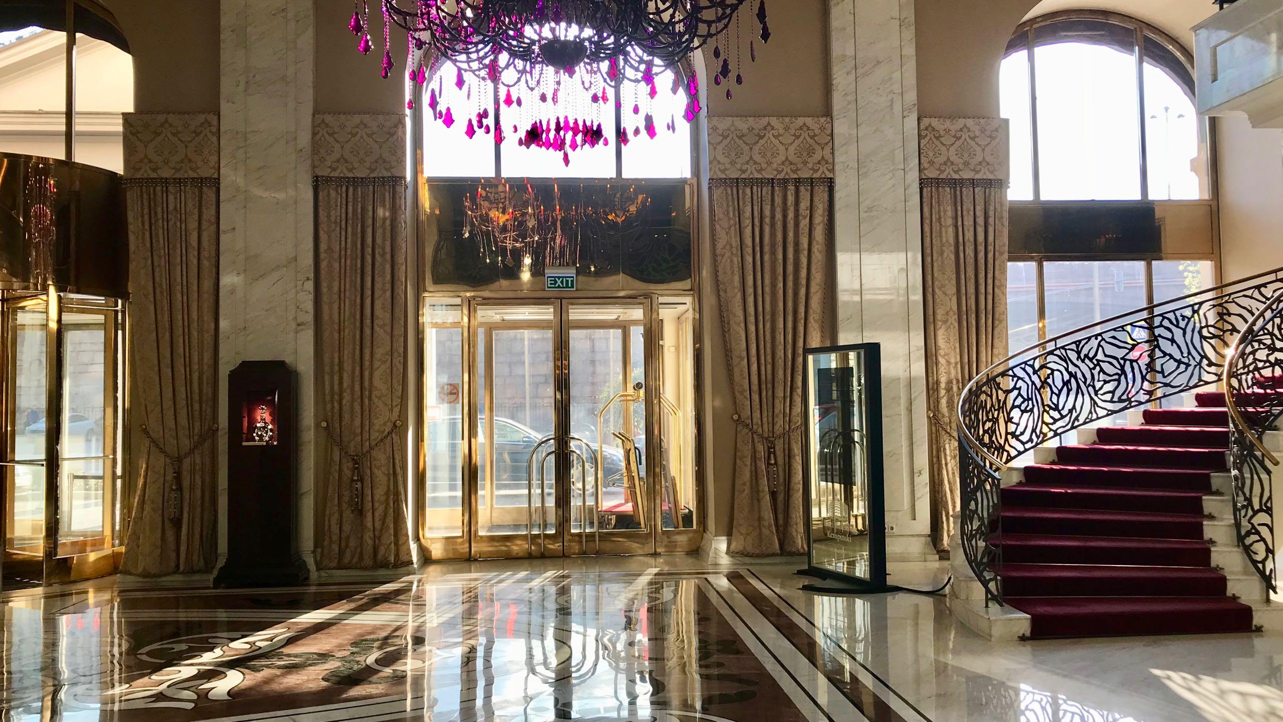 Luxushotel Baltschug Kempinski Moskau Lobby Treppe