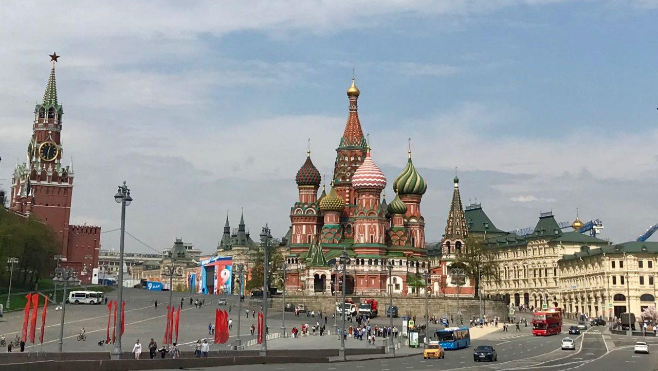 Moskau Roter Platz und Basilius Kathedrale