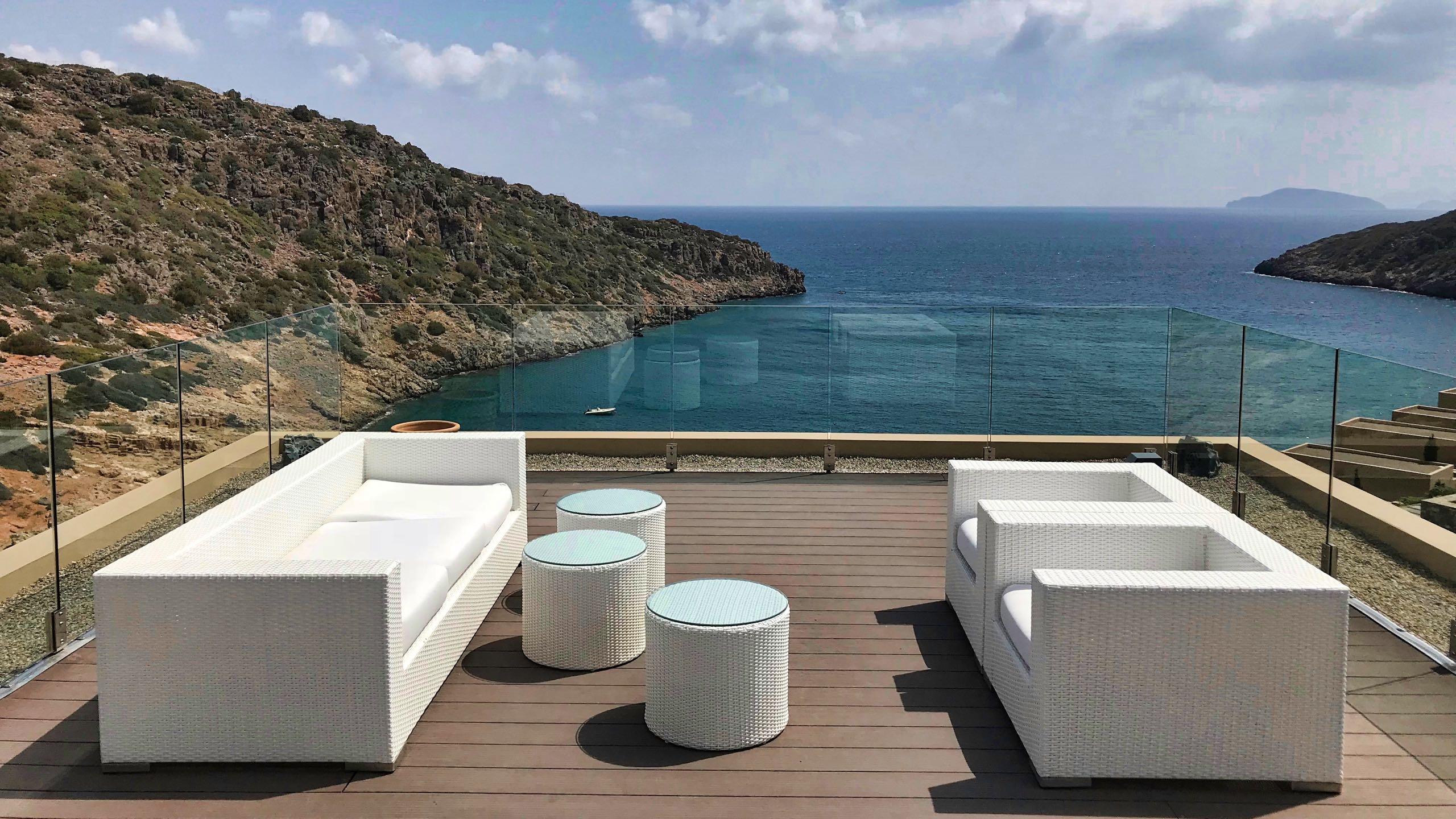 Hotel Daios Cove Kreta Empore mit Meerblick
