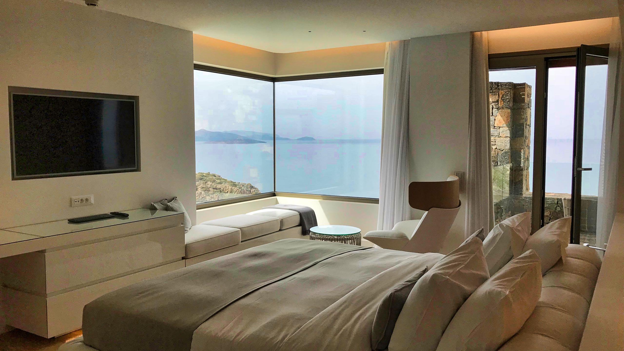 Hotel Daios Cove Kreta Luxus-Villa Schlafzimmer