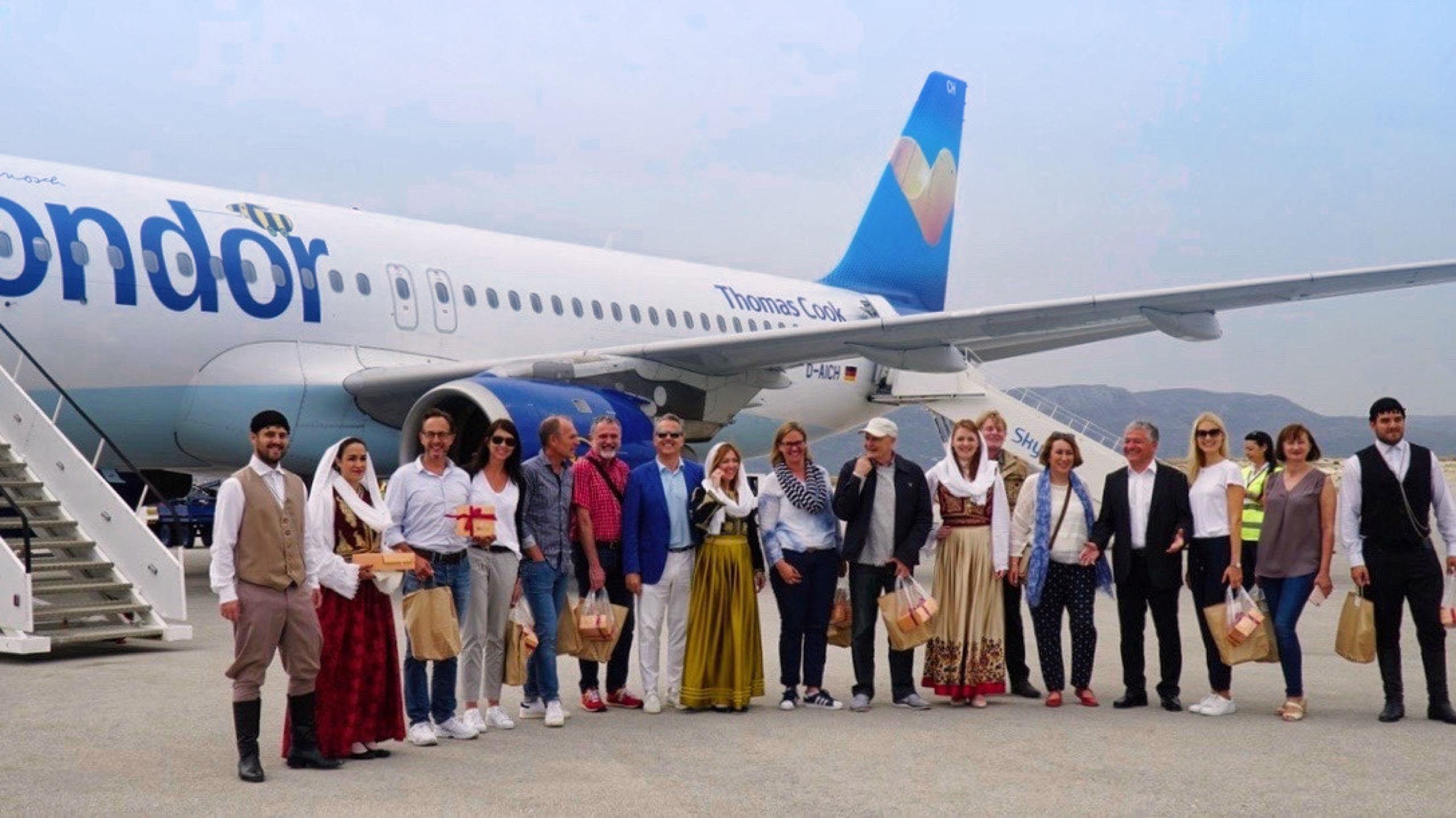 Kreta Flughafen Sitia Condor Flugzeug