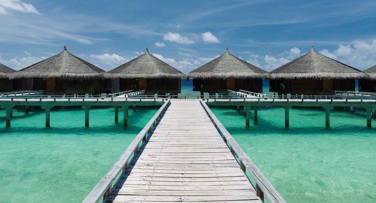 Wasservillen auf Kuramathi Island Malediven.
