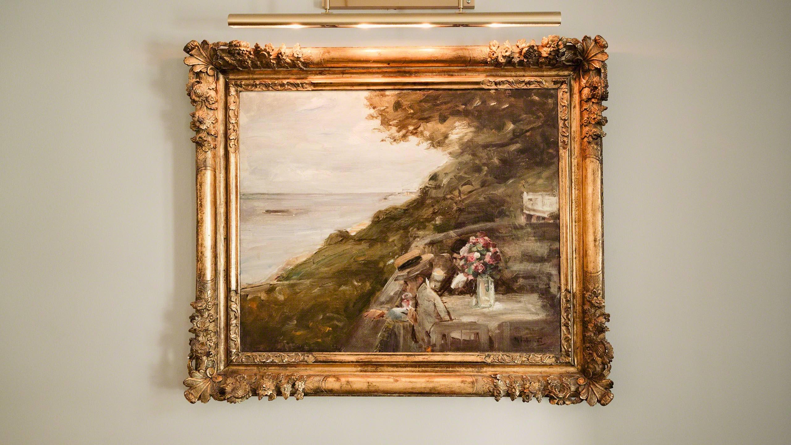 Max Liebermann Ölgemälde an der Wand die Lindenterrasse vom Hotels Louis C. Jacob