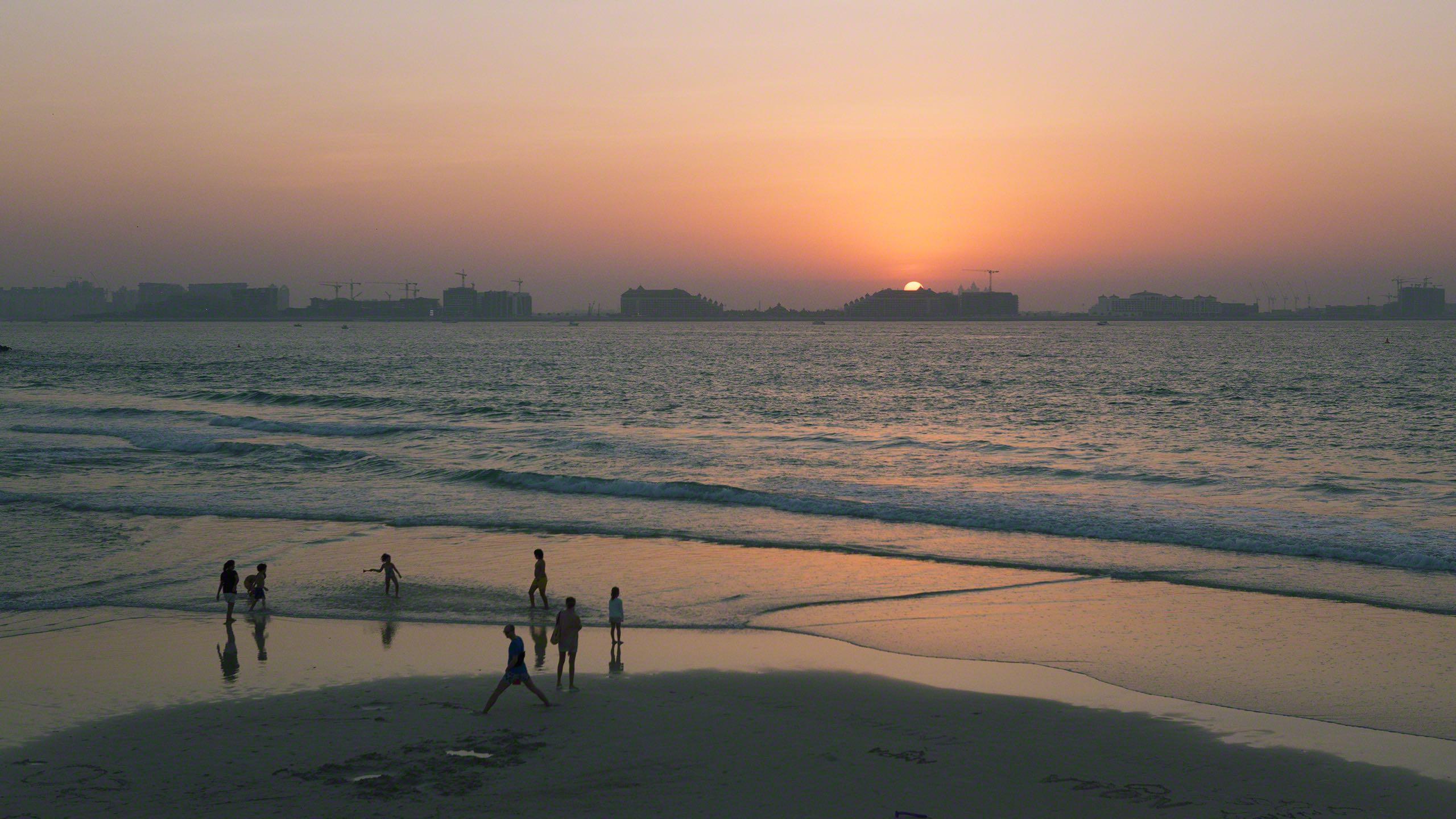 Romantische Stimmung am Beach des Madinat Jumeirah Resorts