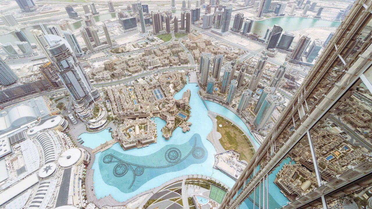 Der Blick von oben! Dubai, Burj Khalifa, AT THE TOP, Level 124