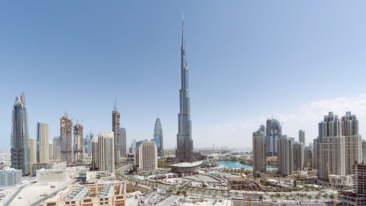 Burj Khalifa, Dubai, das höchste Bauwerk der Welt