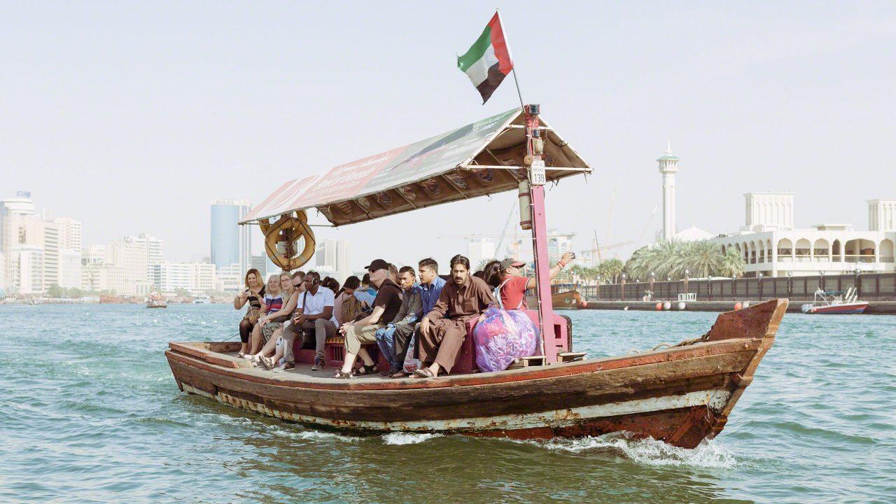 Das traditionelle Abra-Boot in Dubai Creek. Foto © Mirco Seyfert