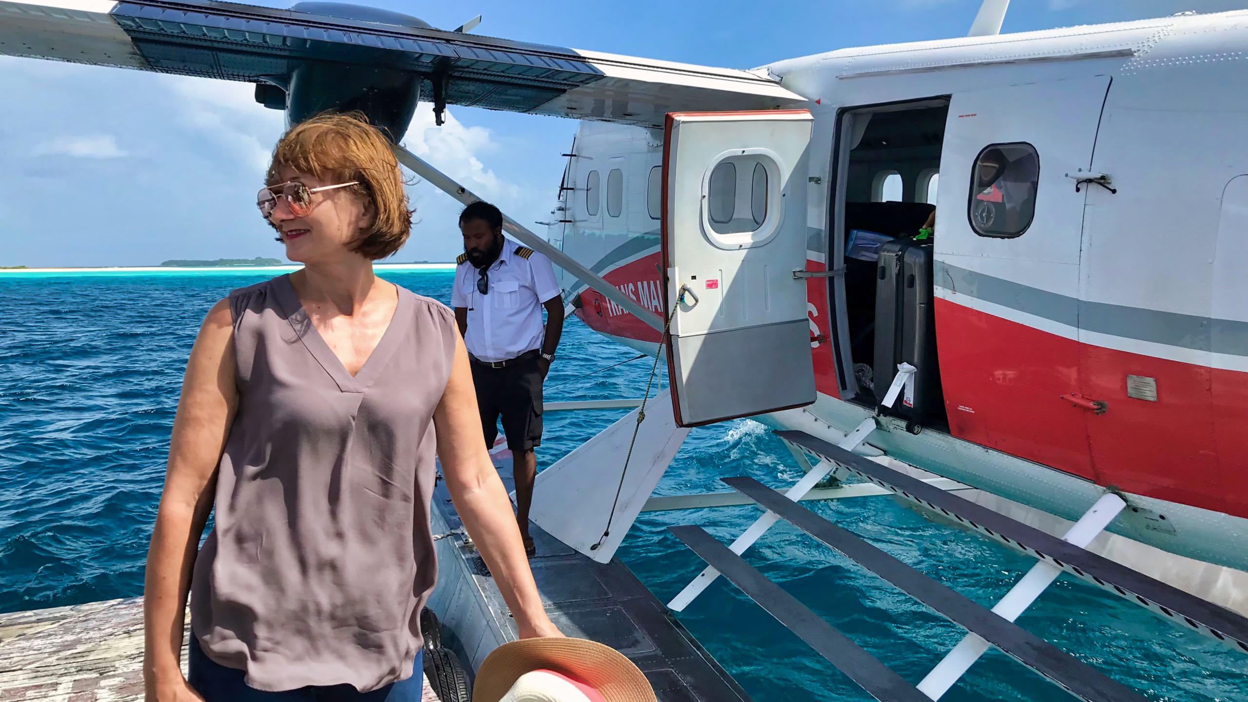 Milaidhoo Island Malediven Ankunft Wasserflugzeug 1