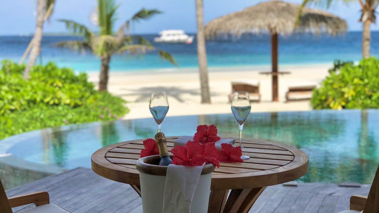 Milaidhoo Island Malediven Beach Villa Pool