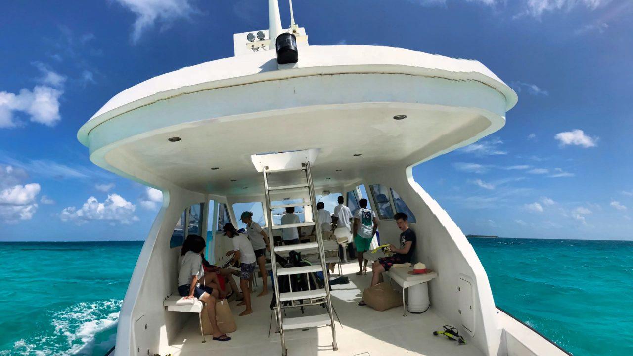 Milaidhoo Island Malediven Manta Hanifaru trip boot