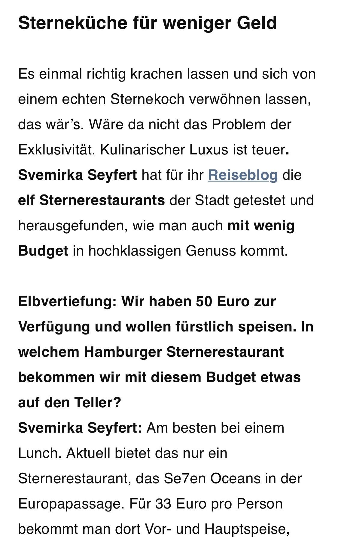 ZEIT Elbvertiefung Interview Svemirka Seyfert 161018