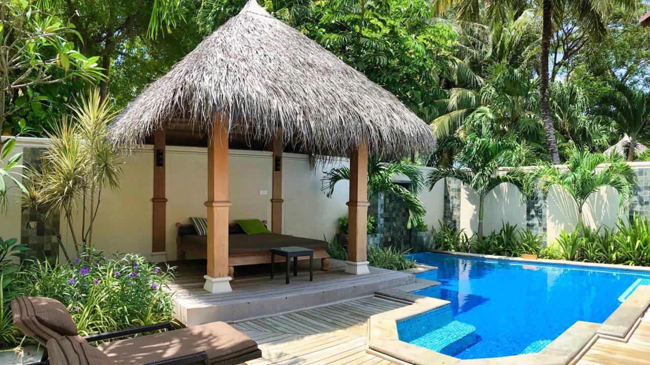 Viel Platz und Privatsphäre bietet die Deluxe Poolvilla.
