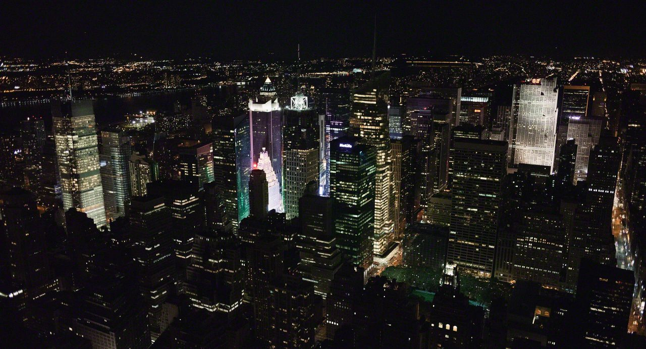 New York bei Nacht Skyline © Mirco Seyfert