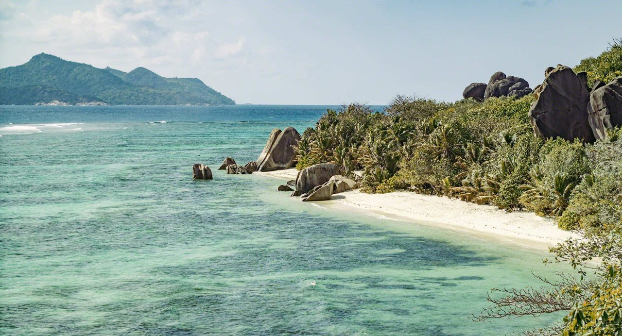 Seychellen Blick auf Anse Source d'Argent, La Digue © Mirco Seyfert