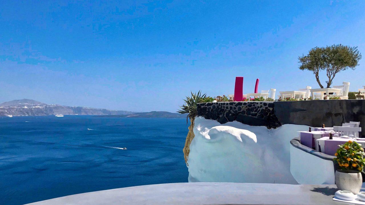 Der schönste Balkon der Welt: Lycabettus Restaurant auf Santorini