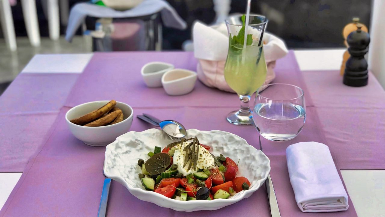 Santorini Reise Highlights und Tipps Lycabettus Restaurant Lunch