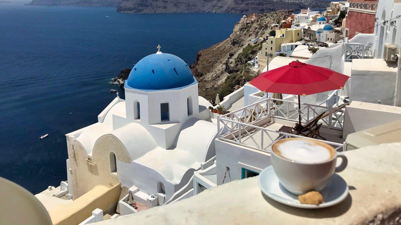 Santorini Reise Highlights und Tipps Melenio Cafe