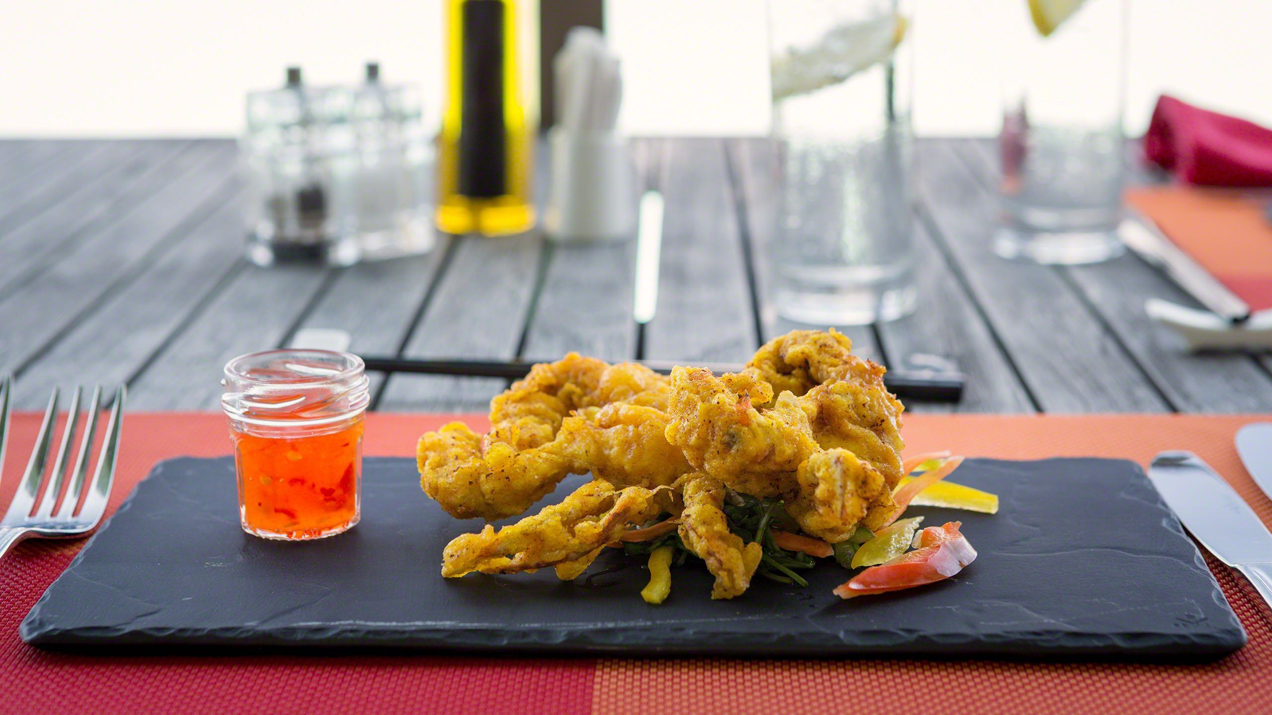 Etwas für Feinschmecker: Crispy soft shell crab ©Mirco Seyfert