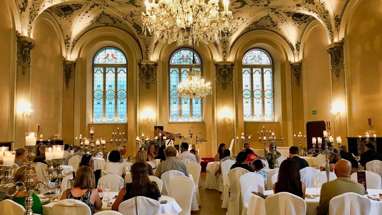 Derberühmte Barocksaal: Sinnliche Erfahrung ist im St. Peter ebenso wichtig wie die kulinarische.