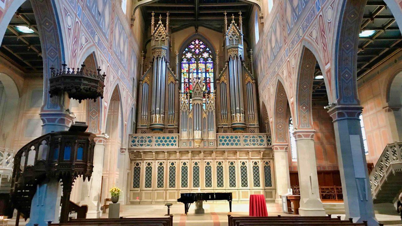 In der Laurenzen-Kirche finden viele Konzerte statt, da die Akkustik exzellent dafür geeignet ist.