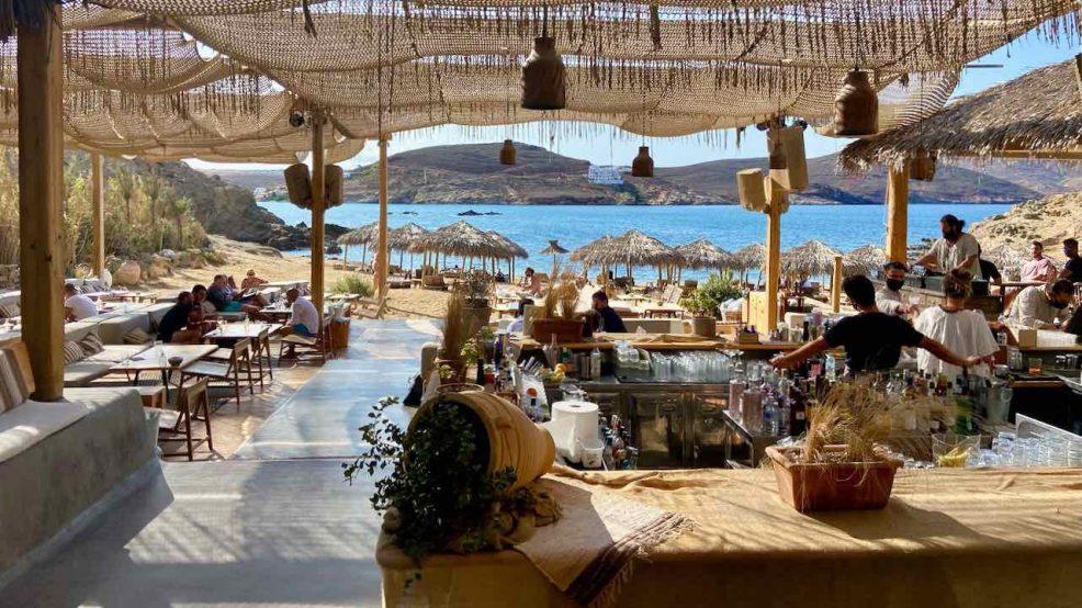Mykonos Reisetipps Beach Clubs Alemàgou Strandbar