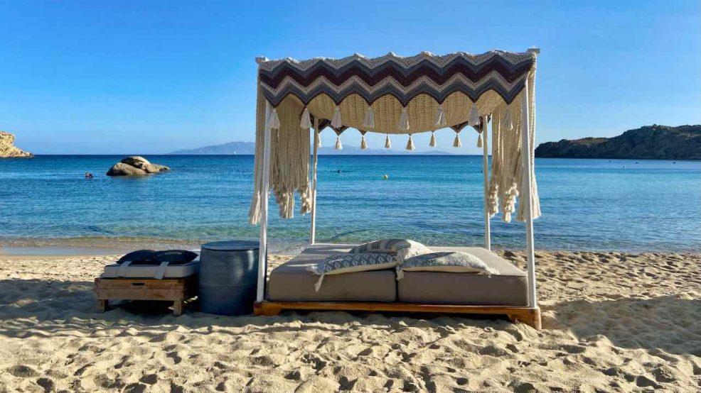 Mykonos Reisetipps Beach Clubs SantAnna Beach Cabana