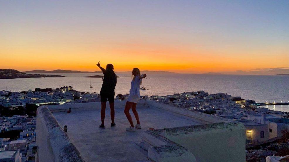 Mykonos Reisetipps Beach Clubs Sonnenuntergang Party